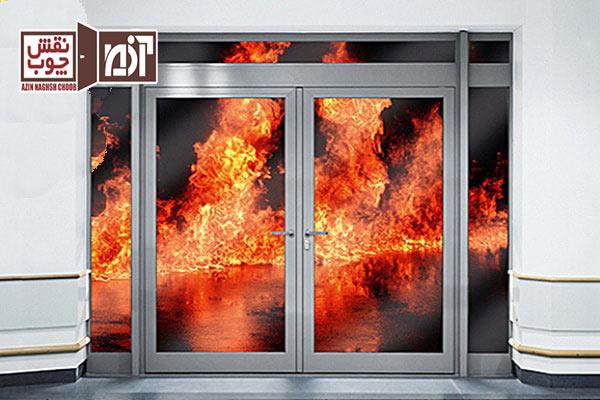 درب ضد حریق شیشه خور