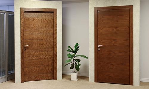 درب کلاف چوبی با رویه PVC / MDF